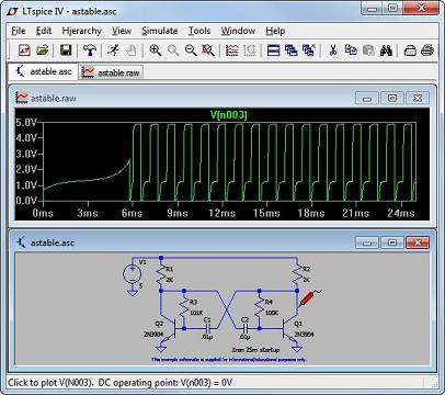 Программа для создания электрических схем.  Хороший удобный симулятор электрических цепей.  В нём очень легко...